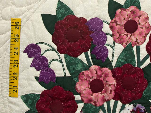 Rose Burgundy and Green Rose of Sharon Wall Hanging Photo 4