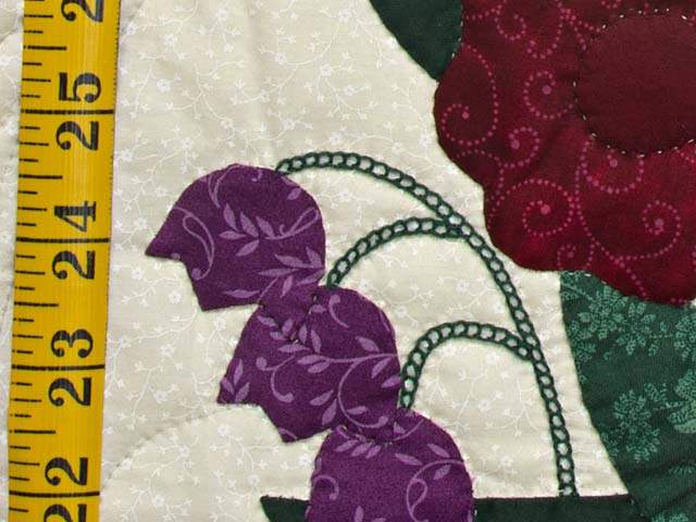 Rose Burgundy and Green Rose of Sharon Wall Hanging Photo 5