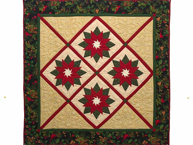 Extra Fine Poinsettia Wall Hanging Photo 1