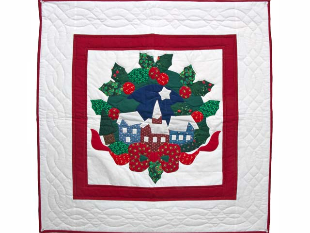 Silent Night Applique Wall Hanging Photo 1