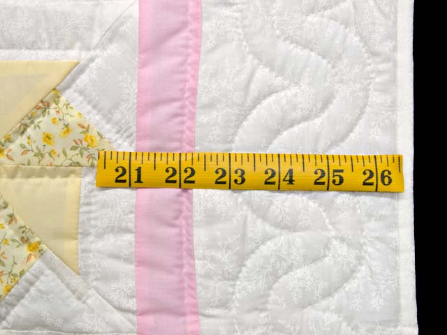 Pastel Pink and Multicolor Pinwheels Crib Quilt Photo 5