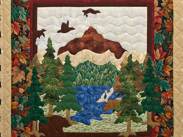 Bear and Moose Quilt -- outstanding carefully made Amish Quilts ... : moose quilt - Adamdwight.com