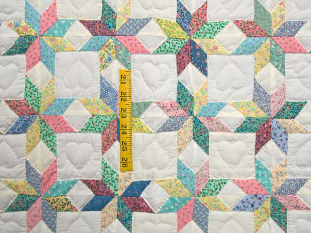 Green and Yellow Little Stars Crib Quilt Photo 3