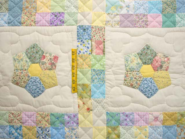 Pastel This and That Crib Quilt Photo 3