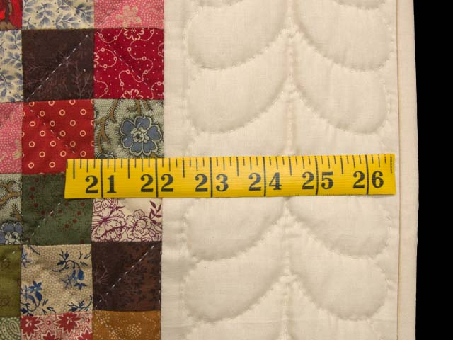 Tan and Multicolor Hit or Miss Crib Quilt Photo 5