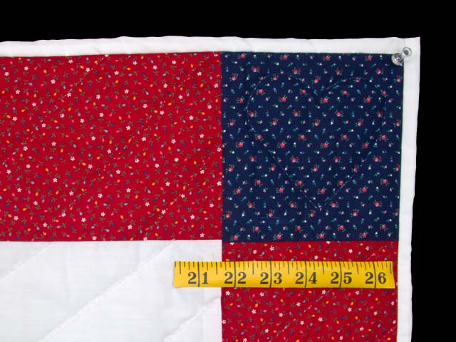 Bright Red and Blue Thomas Train Crib Quilt Photo 5