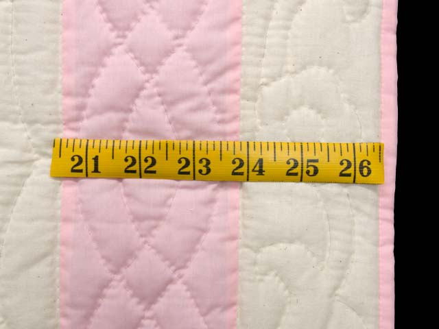 Pastel Pink Dresden Plates Crib Quilt Photo 5