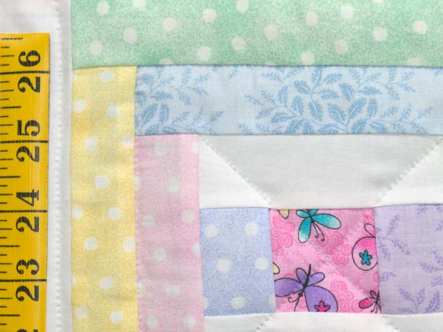 Pastel Rebecca Log Cabin Crib Quilt Photo 4