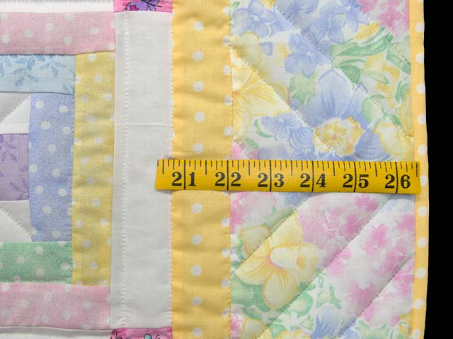 Pastel Rebecca Log Cabin Crib Quilt Photo 5