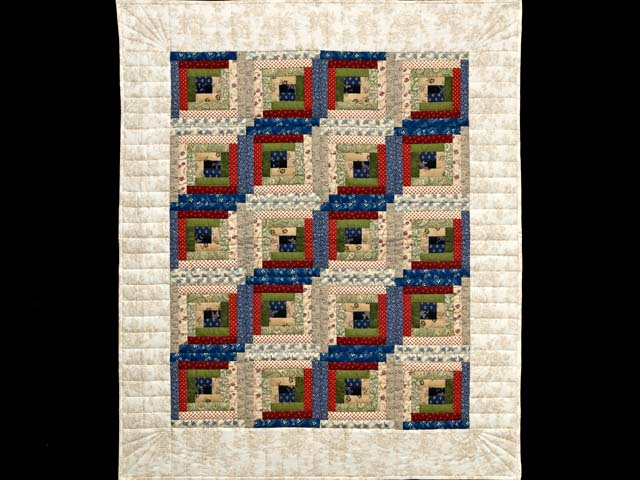 Country Colors Log Cabin Wall Hanging Photo 1