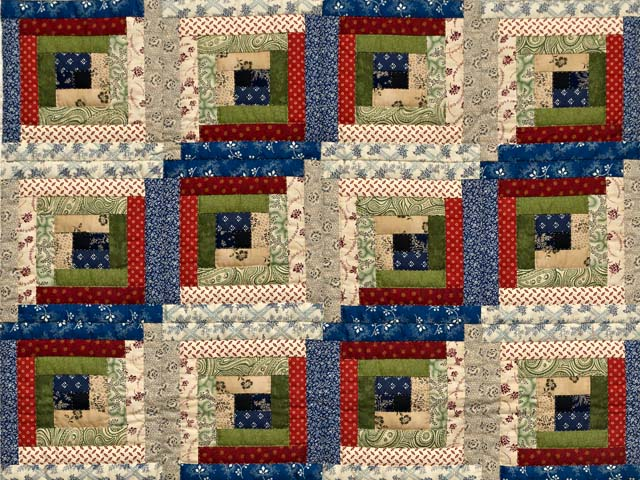 Country Colors Log Cabin Wall Hanging Photo 2