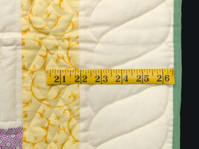 Yellow and Multicolor Floppy Eared Bunnies Crib Quilt Photo 5