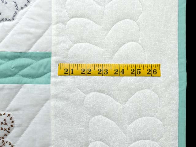 Green and Cream Cross Stitch Animals Crib Quilt Photo 6