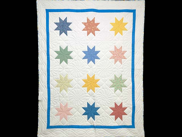 Pastels and Cream Large 8 Point Star Throw Photo 1