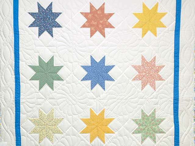 Pastels and Cream Large 8 Point Star Throw Photo 2