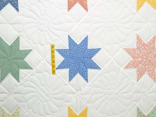 Pastels and Cream Large 8 Point Star Throw Photo 3