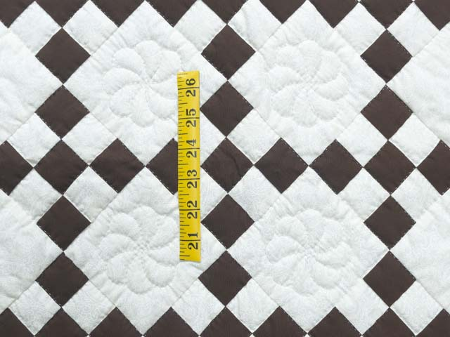 Brown and White Nine Patch Crib Quilt Photo 3