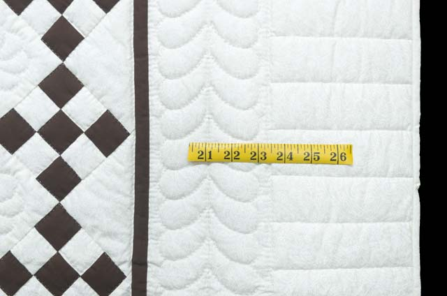 Brown and White Nine Patch Crib Quilt Photo 5