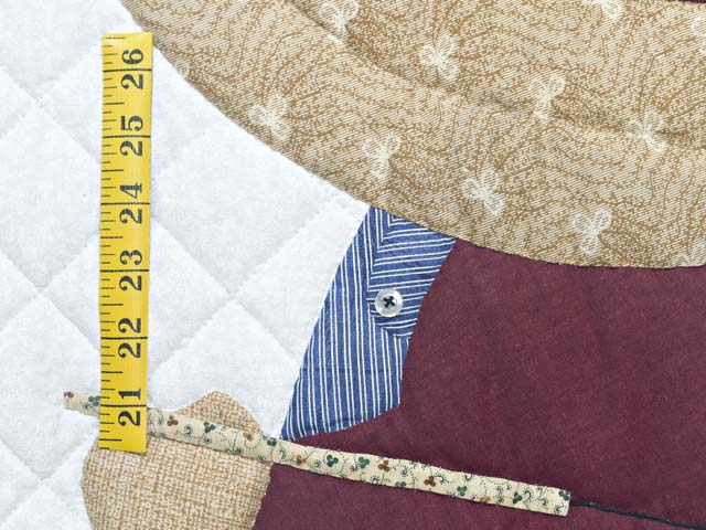 Blue and Burgundy Fisher Boy Applique Crib Quilt Photo 4