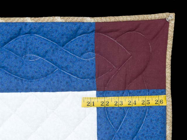 Blue and Burgundy Fisher Boy Applique Crib Quilt Photo 5