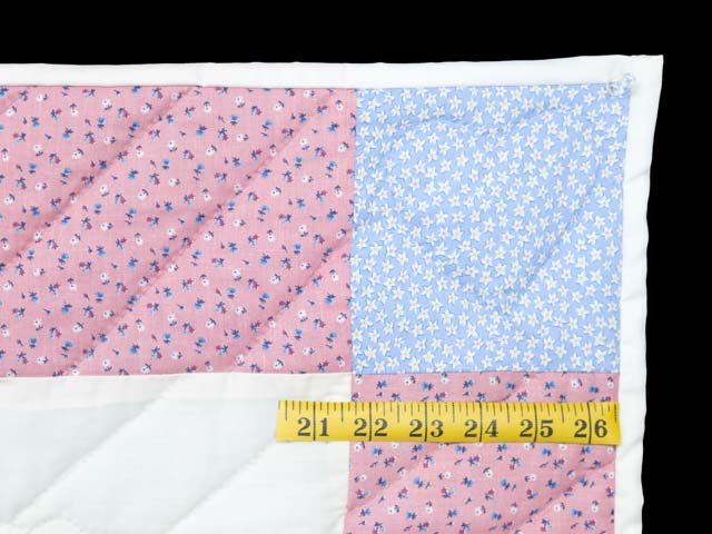 Pastel Pink and Blue Rocking Horse Crib Quilt Photo 5
