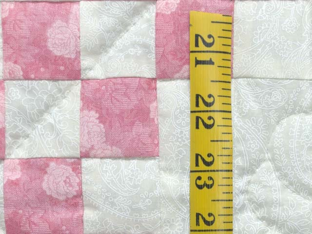 Pastel Pink and Cream Irish Chain Crib Quilt Photo 4