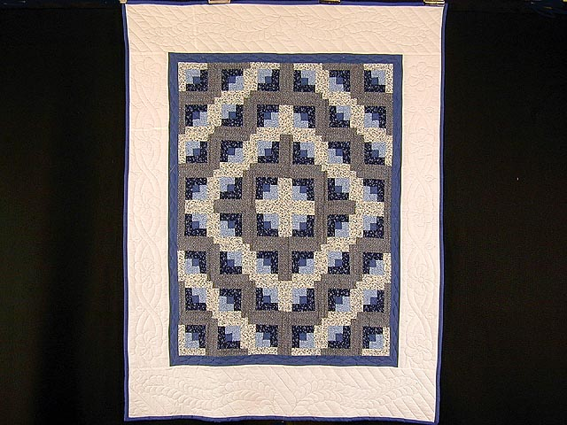 Blue and Cream Log Cabin Wallhanging Photo 1