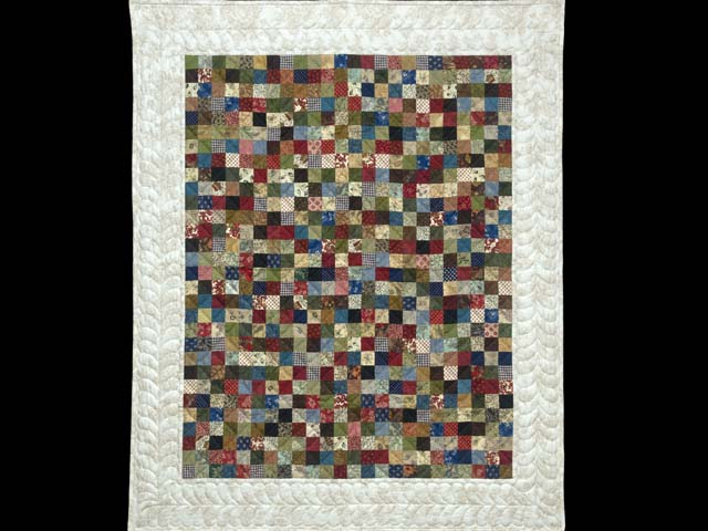 Multicolor Hit or Miss Crib Quilt Photo 1
