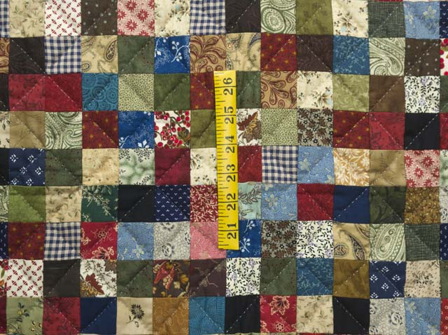 Multicolor Hit or Miss Crib Quilt Photo 3