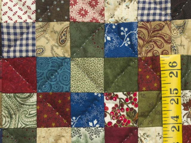 Multicolor Hit or Miss Crib Quilt Photo 4