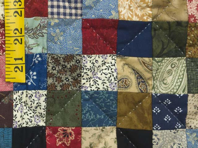 Multicolor Hit or Miss Crib Quilt Photo 5
