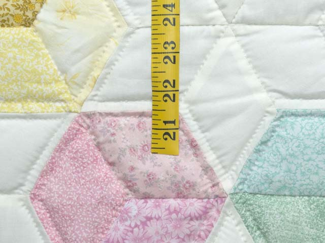 Green and Pastels Tumbling Blocks Crib Quilt Photo 5