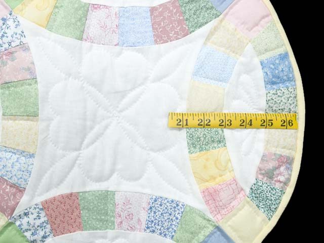 Extra Fine Pastel Double Wedding Ring Crib Quilt Photo 5