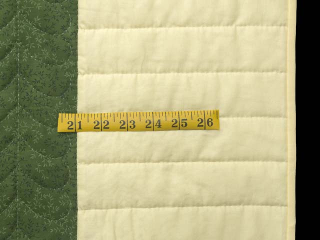 Dark Green and Pale Yellow Nine Patch Throw Photo 5