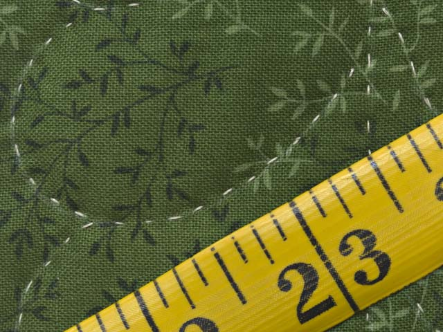 Dark Green and Pale Yellow Nine Patch Throw Photo 6