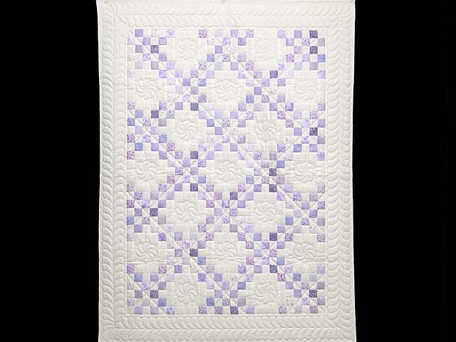 Pastel  Lavender Irish Chain Crib Quilt Photo 1