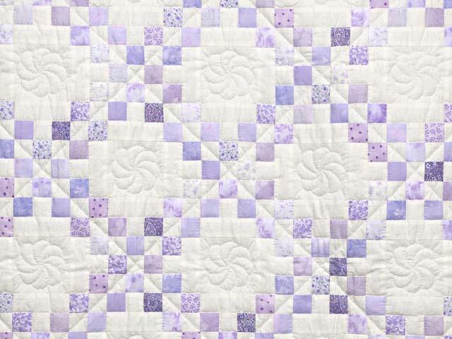 Pastel  Lavender Irish Chain Crib Quilt Photo 2