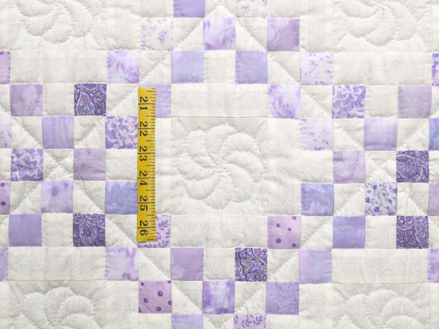 Pastel  Lavender Irish Chain Crib Quilt Photo 3