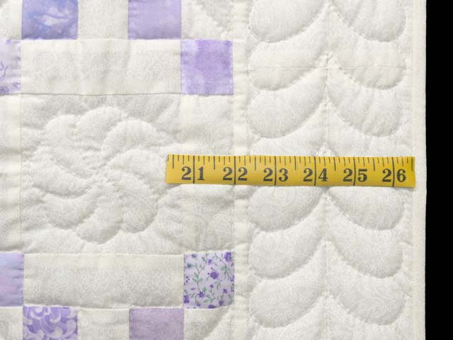Pastel  Lavender Irish Chain Crib Quilt Photo 5