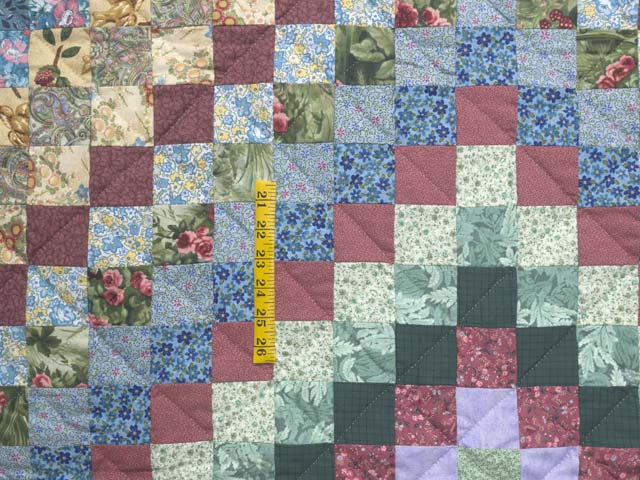Blue and Multicolor Hit or Miss Crib Quilt Photo 3