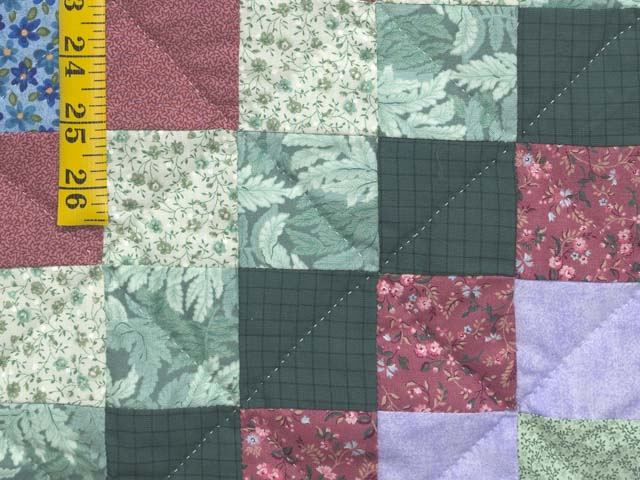 Blue and Multicolor Hit or Miss Crib Quilt Photo 5