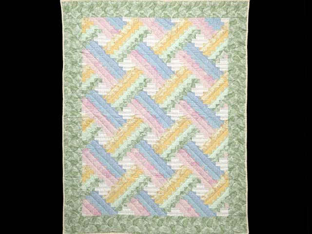 Weaver Fever Quilt -- exquisite well made Amish Quilts from Lancaster (wh5967)