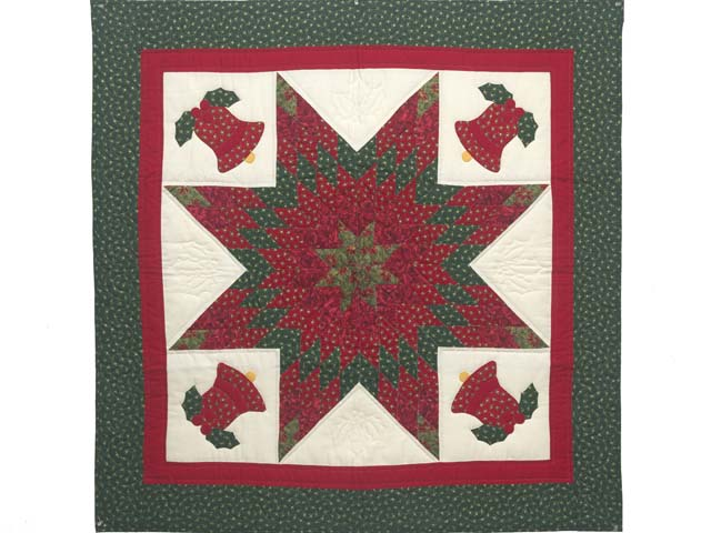 Christmas Bells Lone Star Wall Hanging Photo 1