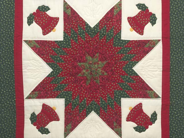 Christmas Bells Lone Star Wall Hanging Photo 2