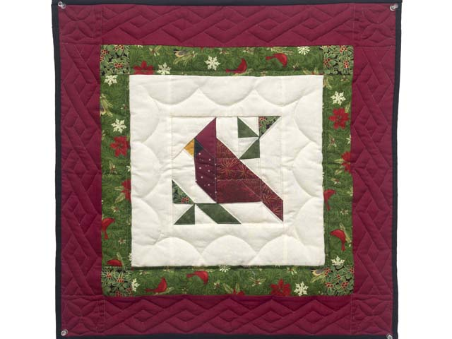 Mini Patchwork Cardinal Wall Hanging Photo 1