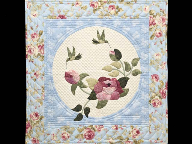 Blue Rose and Green Rose Garden Wall Hanging Photo 1
