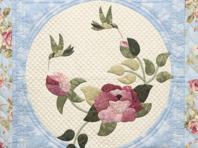 Blue Rose and Green Rose Garden Wall Hanging Photo 2
