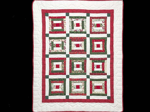 Festive Rebecca Log Cabin Quilt Photo 1