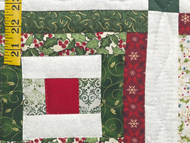 Festive Rebecca Log Cabin Quilt Photo 5