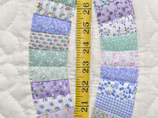 Fine Purple and Green Wedding Ring Crib Quilt Photo 5